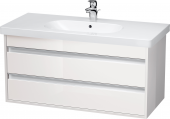 Duravit Ketho - Meuble sous-vasque 1000 x 480 x 455 mm avec 2 tiroirs blanc brillant