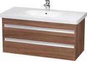 Duravit Ketho - Meuble sous-vasque 1000 x 480 x 455 mm avec 2 tiroirs noyer naturel