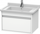 Duravit Ketho - Meuble sous-vasque 650 x 410 x 465 mm avec 1 tiroir blanc mat