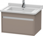 Duravit Ketho - Meuble sous-vasque 650 x 410 x 465 mm avec 1 tiroir basalte mat
