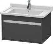 Duravit Ketho - Meuble sous-vasque 650 x 410 x 465 mm avec 1 tiroir graphite mat