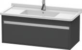 Duravit Ketho - Meuble sous-vasque 1000 x 410 x 465 mm avec 1 tiroir graphite mat
