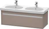Duravit Ketho - Meuble sous-vasque 1150 x 410 x 455 mm avec 1 tiroir basalte mat
