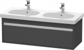 Duravit Ketho - Meuble sous-vasque 1150 x 410 x 455 mm avec 1 tiroir graphite mat