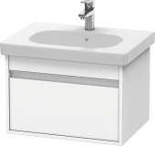 Duravit Ketho - Meuble sous-vasque 600 x 410 x 455 mm avec 1 tiroir blanc mat