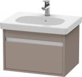 Duravit Ketho - Meuble sous-vasque 600 x 410 x 455 mm avec 1 tiroir basalte mat