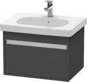 Duravit Ketho - Meuble sous-vasque 600 x 410 x 455 mm avec 1 tiroir graphite mat