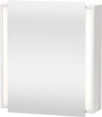 Duravit Ketho - Armoire de toilette 650 x 750 x 180 mm avec 1 porte miroir & 2 étagères en verre & charnières de portes à gauche miroir