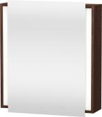 Duravit Ketho - Armoire de toilette 650 x 750 x 180 mm avec 1 porte miroir & 2 étagères en verre & charnières de portes à droite miroir
