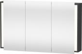 Duravit Ketho - Armoire de toilette 1200 x 750 x 180 mm avec 3 portes miroir & 4 étagères en verre miroir