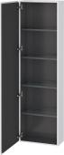 Duravit L-Cube - Armoire 500 x 1760 x 243 mm avec 1 porte & 4 étagères en verre & charnières de portes à gauche blanc mat