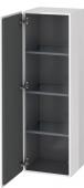 Duravit L-Cube - Armoire mi-haute 400 x 1320 x 363 mm avec 1 porte & 3 étagères en verre & charnières de portes à gauche blanc brillant
