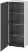 Duravit L-Cube - Armoire mi-haute 500 x 1320 x 363 mm avec 1 porte & 3 étagères en verre & charnières de portes à gauche blanc brillant