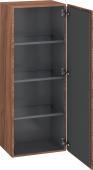 Duravit L-Cube - Armoire mi-haute 500 x 1320 x 363 mm avec 1 porte & 3 étagères en verre & charnières de portes à droite noyer naturel