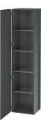 Duravit L-Cube - Armoire 400 x 1760 x 363 mm avec 1 porte & 4 étagères en verre & charnières de portes à gauche gris dolomite brillant
