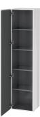 Duravit L-Cube - Armoire 400 x 1760 x 363 mm avec 1 porte & 4 étagères en verre & charnières de portes à gauche blanc brillant