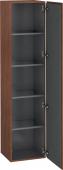 Duravit L-Cube - Armoire 400 x 1760 x 363 mm avec 1 porte & 4 étagères en verre & charnières de portes à droite noyer américain placage bois