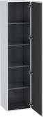 Duravit L-Cube - Armoire 400 x 1760 x 363 mm avec 1 porte & 4 étagères en verre & charnières de portes à droite blanc mat