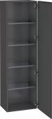 Duravit L-Cube - Armoire 500 x 1760 x 363 mm avec 1 porte & 4 étagères en verre & charnières de portes à droite graphite mat