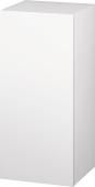 Duravit L-Cube - Armoire mi-haute 250-500 x 600-900 x 200-363 mm avec 1 porte & 2 étagères en verre & charnières de portes à droite blanc mat