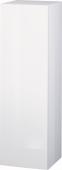 Duravit L-Cube - Armoire mi-haute 250-500 x 901-1320 x 200-363 mm avec 1 porte, 1 étagère en bois, 2 étagères en verre & charnières de portes à droite blanc brillant