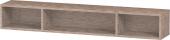 Duravit L-Cube - Elément étagère horizontal 800 x 120 x 140 mm avec 3 compartiments chêne cachemire