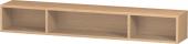 Duravit L-Cube - Elément étagère horizontal 800 x 120 x 140 mm avec 3 compartiments chêne brossé placage bois