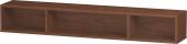 Duravit L-Cube - Elément étagère horizontal 800 x 120 x 140 mm avec 3 compartiments noyer américain placage bois