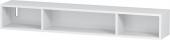 Duravit L-Cube - Elément étagère horizontal 800 x 120 x 140 mm avec 3 compartiments blanc mat