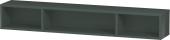 Duravit L-Cube - Elément étagère horizontal 800 x 120 x 140 mm avec 3 compartiments gris dolomite brillant
