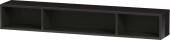 Duravit L-Cube - Elément étagère horizontal 800 x 120 x 140 mm avec 3 compartiments noir brillant