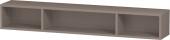 Duravit L-Cube - Elément étagère horizontal 800 x 120 x 140 mm avec 3 compartiments basalte mat