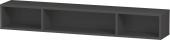Duravit L-Cube - Elément étagère horizontal 800 x 120 x 140 mm avec 3 compartiments graphite mat