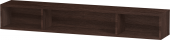 Duravit L-Cube - Elément étagère horizontal 800 x 120 x 140 mm avec 3 compartiments châtaignier foncé