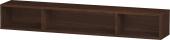 Duravit L-Cube - Elément étagère horizontal 800 x 120 x 140 mm avec 3 compartiments noyer brossé placage bois