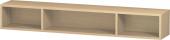 Duravit L-Cube - Elément étagère horizontal 800 x 120 x 140 mm avec 3 compartiments chêne méditerranéen placage bois