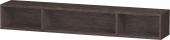 Duravit L-Cube - Elément étagère horizontal 800 x 120 x 140 mm avec 3 compartiments chêne foncé brossé placage bois