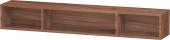 Duravit L-Cube - Elément étagère horizontal 800 x 120 x 140 mm avec 3 compartiments noyer naturel