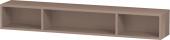 Duravit L-Cube - Elément étagère horizontal 800 x 120 x 140 mm avec 3 compartiments capuccino brillant