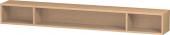 Duravit L-Cube - Elément étagère horizontal 1000 x 120 x 140 mm avec 3 compartiments chêne brossé placage bois