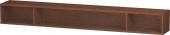 Duravit L-Cube - Elément étagère horizontal 1000 x 120 x 140 mm avec 3 compartiments noyer américain placage bois