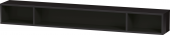 Duravit L-Cube - Elément étagère horizontal 1000 x 120 x 140 mm avec 3 compartiments noir brillant