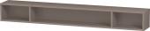 Duravit L-Cube - Elément étagère horizontal 1000 x 120 x 140 mm avec 3 compartiments basalte mat
