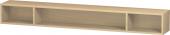 Duravit L-Cube - Elément étagère horizontal 1000 x 120 x 140 mm avec 3 compartiments chêne méditerranéen placage bois
