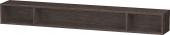 Duravit L-Cube - Elément étagère horizontal 1000 x 120 x 140 mm avec 3 compartiments chêne foncé brossé placage bois