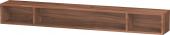 Duravit L-Cube - Elément étagère horizontal 1000 x 120 x 140 mm avec 3 compartiments noyer naturel