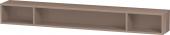 Duravit L-Cube - Elément étagère horizontal 1000 x 120 x 140 mm avec 3 compartiments capuccino brillant