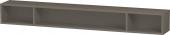 Duravit L-Cube - Elément étagère horizontal 1000 x 120 x 140 mm avec 3 compartiments gris flanelle satiné mat