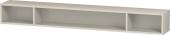 Duravit L-Cube - Elément étagère horizontal 1000 x 120 x 140 mm avec 3 compartiments taupe