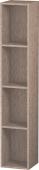 Duravit L-Cube - Elément étagère vertical 180 x 1000 x 180 mm avec 4 compartiments chêne cachemire